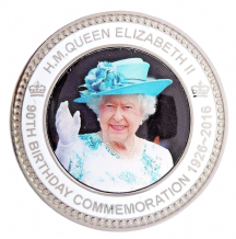 HM Queen Elizabeth II Ninetieth 90th Birthday Commemorative Coin Medal In Sleeve